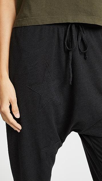 SUNDRY Star Applique Long Rise Pants