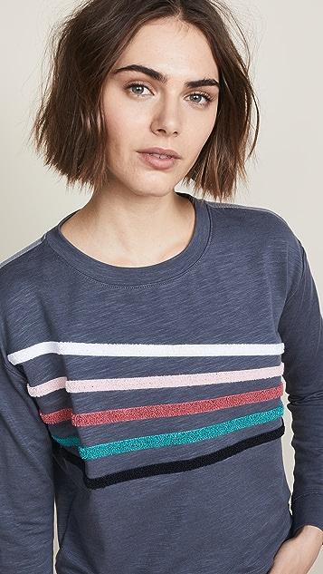 SUNDRY Chenille Stripes Pullover