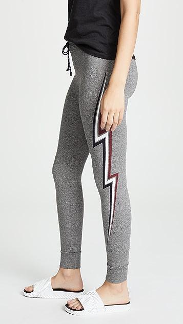 SUNDRY Lightning Bolt Skinny Sweatpants