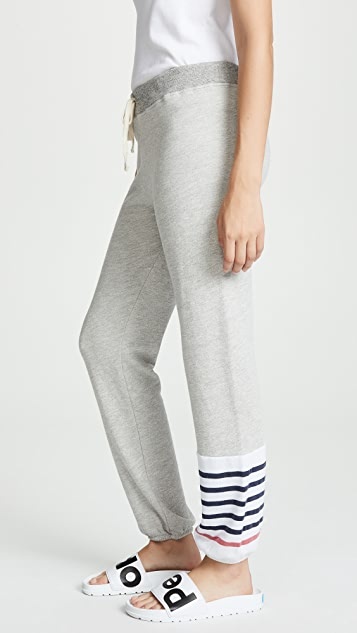 SUNDRY Striped Colorblock Sweatpants