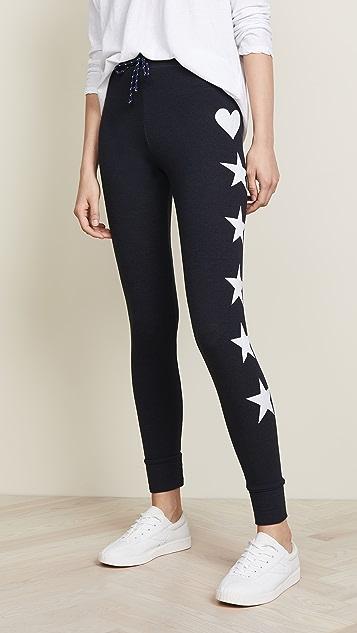 SUNDRY Stars + Hearts Skinny Sweatpants