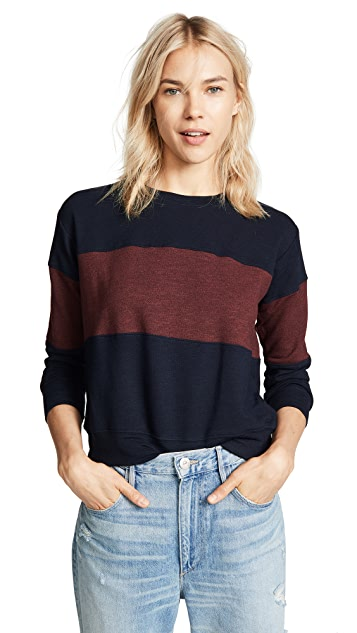 SUNDRY Colorblocked Sweatshirt