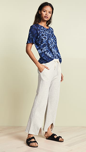 SUNDRY Cropped Vent Sweatpants