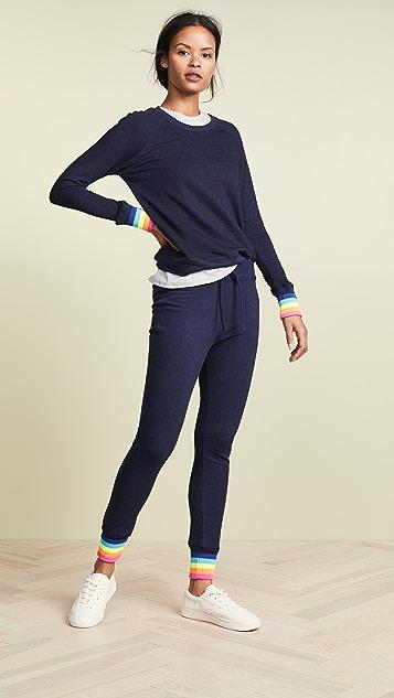 SUNDRY Raglan Sweatshirt with Multicolor Rib
