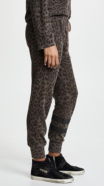 SUNDRY Cheetah Jogger Pants