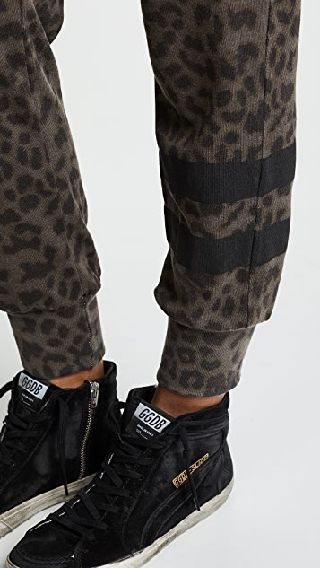 SUNDRY Cheetah Jogger Pants