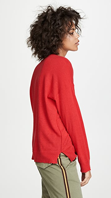 SUNDRY Star Outlined Sweater