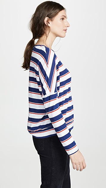 SUNDRY Stripes Easy Long Sleeve Tee