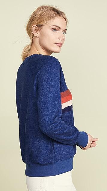 SUNDRY Multi Stripe Raglan Pullover