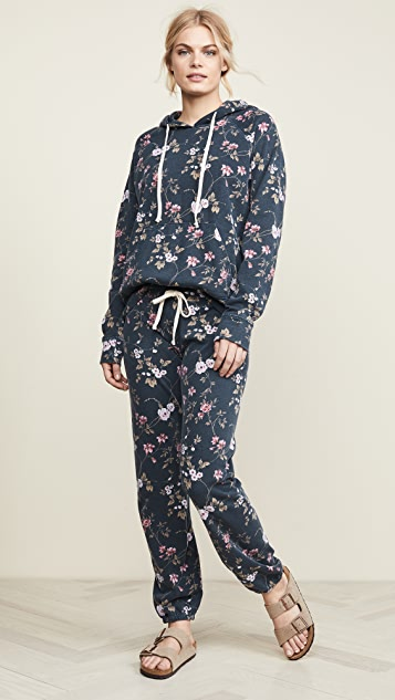 SUNDRY Floral Basic Sweatpants