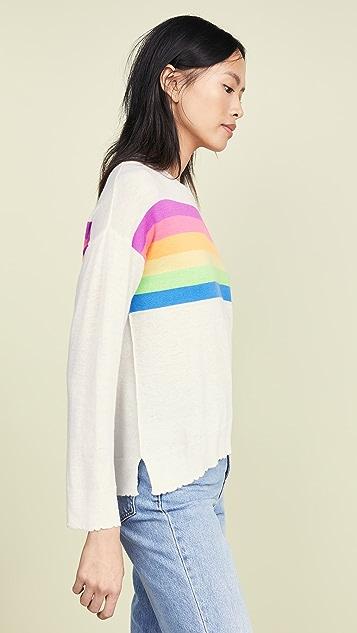 SUNDRY 彩虹条纹圆领毛衣