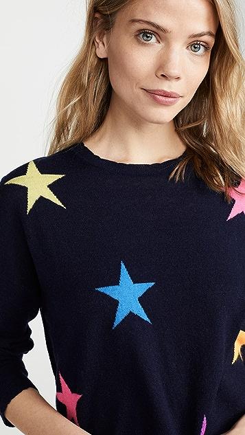 SUNDRY Stars & Свитер с круглым вырезом в форме сердца