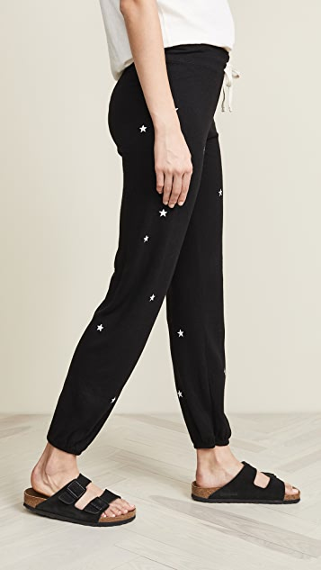 SUNDRY Классические спортивные брюки Little Stars