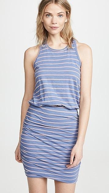 f25c5619011ec SUNDRY Striped Sleeveless Dress ...