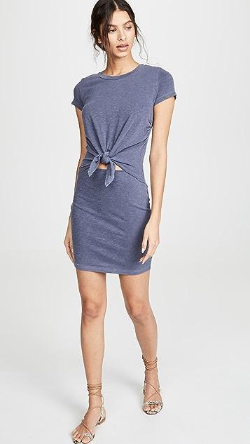 SUNDRY Tie Front Dress