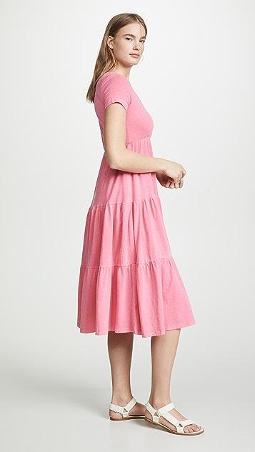 SUNDRY Миди-платье Peasant