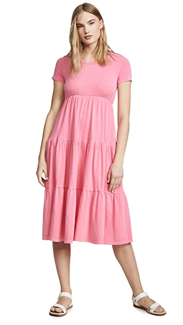 SUNDRY Peasant Midi Dress