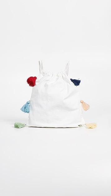 Sundry Canvas Tassel Backpack