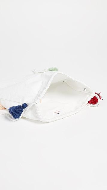 SUNDRY Рюкзак с кисточками из холщовой ткани