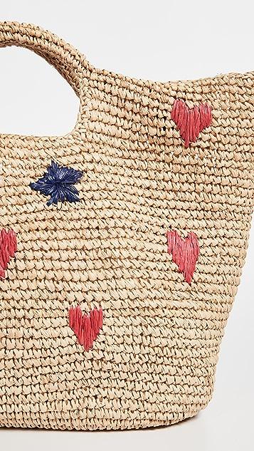 SUNDRY Hearts + Stars Bucket Bag