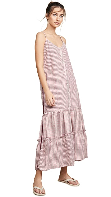 SUNDRY Ruffle Midi Dress