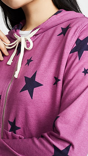 SUNDRY Толстовка с капюшоном на молнии Star