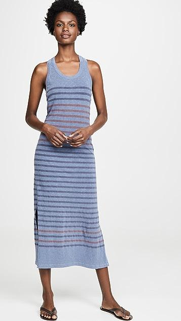 SUNDRY 工字型后背开衩连衣裙