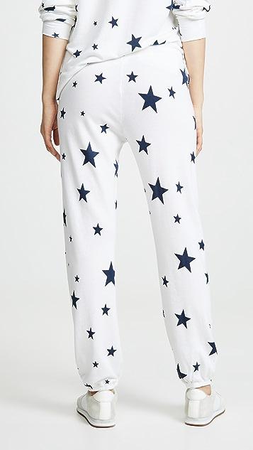 SUNDRY Базовые спортивные брюки со звездой