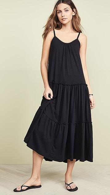SUNDRY Многоярусное макси-платье