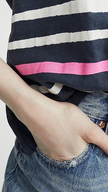 SUNDRY Ворсованная футболка в полоску