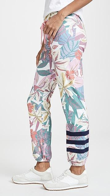 SUNDRY Спортивные брюки с цветочным принтом в полоску
