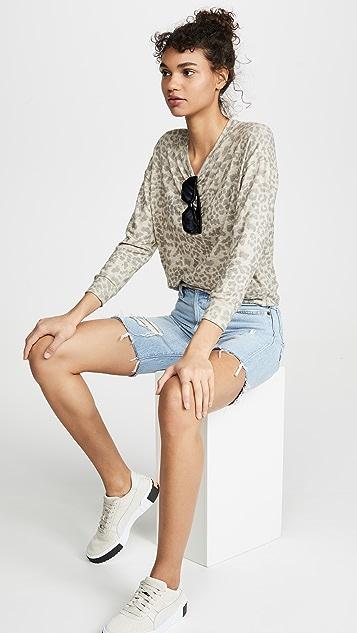 SUNDRY Leopard Print Sweater