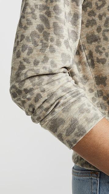 SUNDRY Свитер с леопардовым принтом