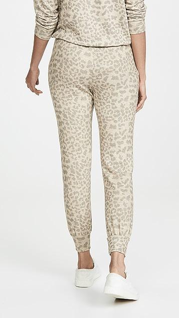 SUNDRY Leopard Print Joggers