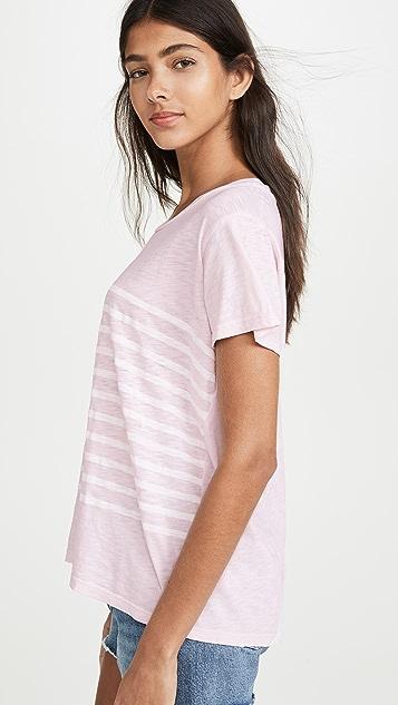 SUNDRY Винтажная футболка в полоску