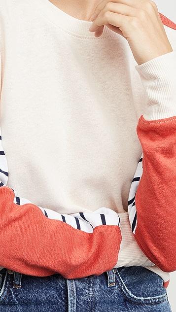 SUNDRY Толстовка с цветными блоками в полоску