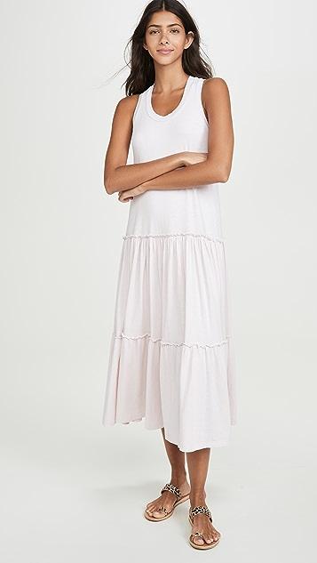 SUNDRY Многоярусное платье со спиной-борцовкой