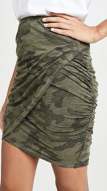 SUNDRY 迷彩交叠半身裙