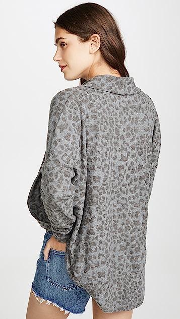 SUNDRY 豹纹印花开襟衫