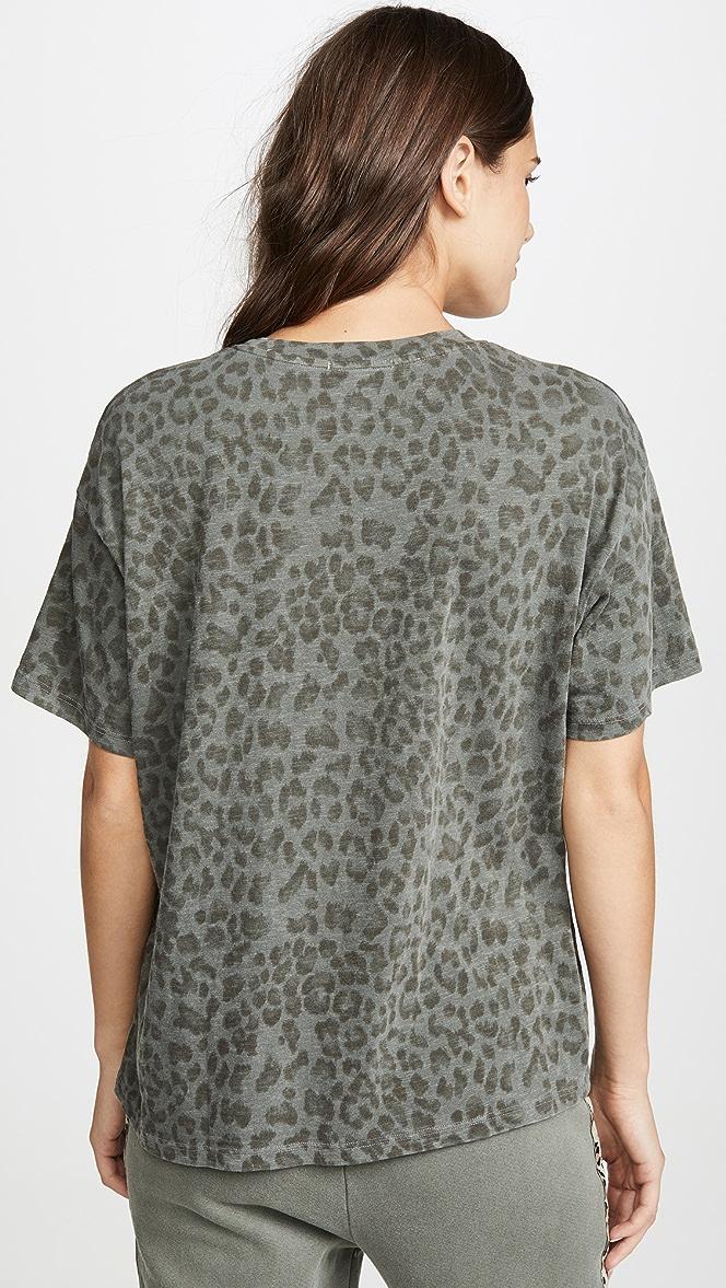 SUNDRY Leopard Oversized Tee