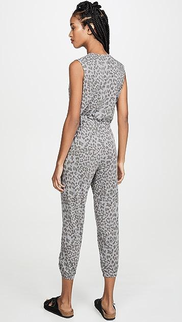 SUNDRY 豹纹裹身款式连身衣