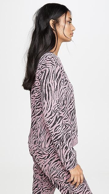 SUNDRY 斑马短款宽松运动衫