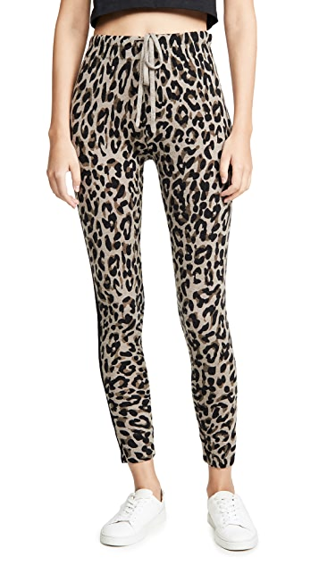 SUNDRY Leopard Cozy Sweatpants