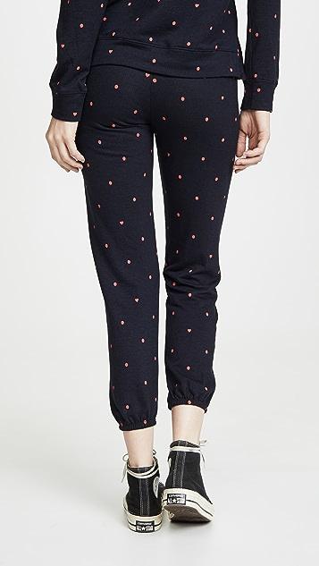 SUNDRY 圆点花纹运动裤