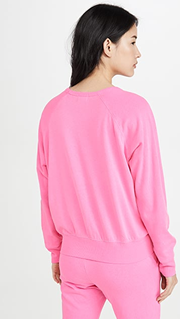 SUNDRY Pleated Sweatshirt