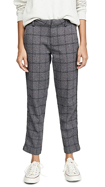 SUNDRY Plaid Clean Straight Trousers