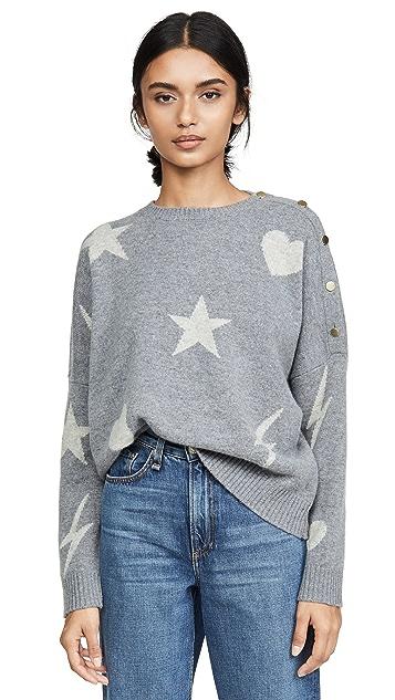 SUNDRY Wool Button Sweater