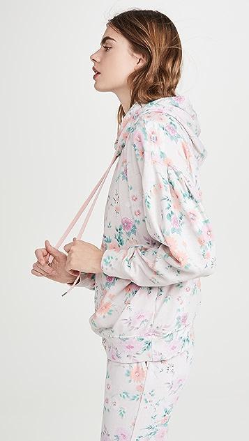 SUNDRY 裥褶衣袖连帽上衣