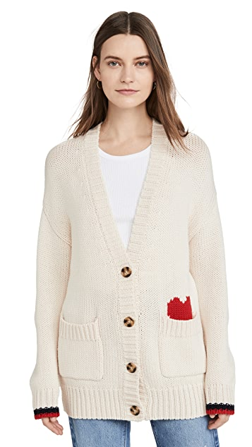 SUNDRY Button Front Cardigan