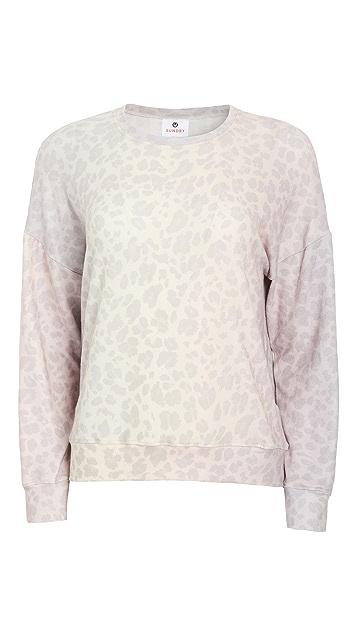 SUNDRY Leopard Cozy Sweatshirt